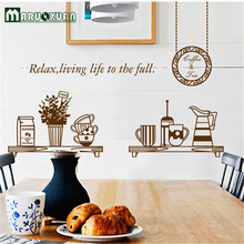 Hot Cakes Can Remove PVC Wall Post Glass Coffee Decorative Stickers Restaurant Kitchen Stickers At Will