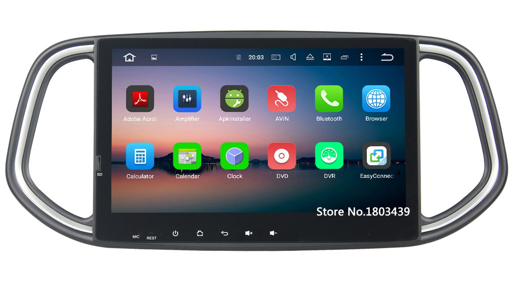 "Android 6.0.1 Octa Core 2GB RAM 10.1"" inch 2 Din Car Radio DAB GPS Navigation DVD player For Kia KX3 2014 2015 2016 2017"
