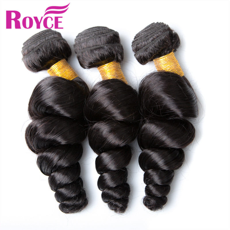 New Arrival 3 Bundles Brazilian Virgin Hair Loose Wave #1B Full End Human Hair Extensions Loose Weaves Deals Brazilian Remy Hair<br><br>Aliexpress