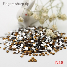 1000 pcs SS12 Dark Brown 14 Facets Resin Round Rhinestone Sparkling Rhinestones Nail Art Decoration DIY N18