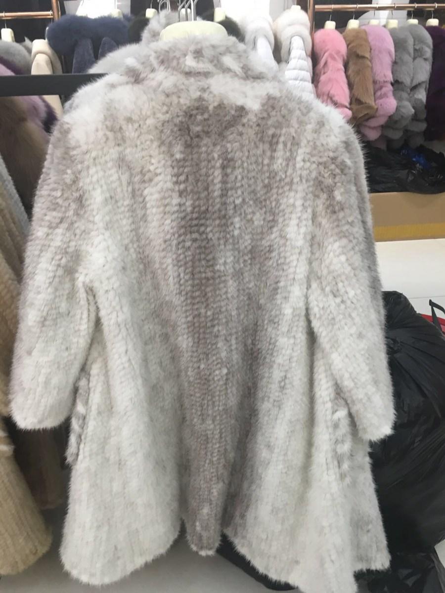 women luxury genuine real knitted mink fur shawls (4)