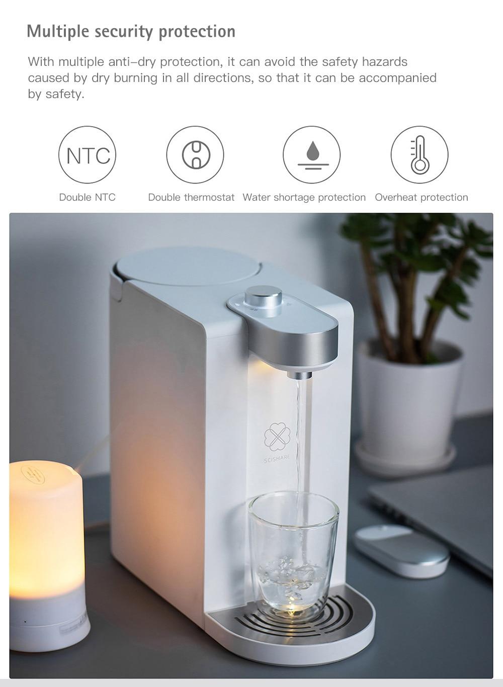 Original Xiaomi 1.8L Water Dispenser Instant Heating Water Dispenser From Xiaomi Youpin Drinkware