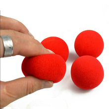 3pcs/lot high quality 4.5cm New Fashion Close-Up Magic Sponge Ball Brand Street Classical Comedy Trick Soft Red Sponge Ball