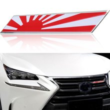 Japan Rising Sun Flag Badge Emblem Sticker For Trunk Front Grille Side Aluminum Plate with UV Coating