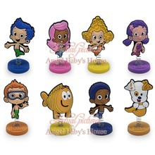 NEW Cartoon PVC Bubble guppies spring doll toy  Action Figures Accessories for bag kids exquisite toy party favors/gifts