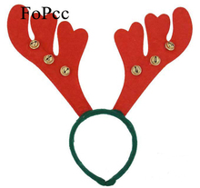 2017 Fashion Cute Antlers Christmas Headband Fancy Festive Stag Deer Ears Hairbands Headwear For Kids Adults Xmas Decorb Favors(China)
