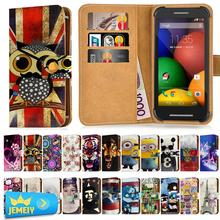 For Motorola Razr I Razr M Universal Printed PU Wallet Flip Flora Leather Case Cell Phone Cover Cases Small Size