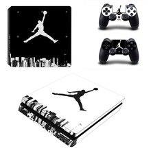 NBA Basketball Legned Air Jordan Decal PS4 Slim Skin Sticker Sony PlayStation 4 Console Controller PS4 Slim Skin Sticker