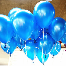10pcs 10inch Blue Latex Balloons Air Balls Inflatable Wedding Party Decoration Birthday Kid Party Float Balloons Classic Toys