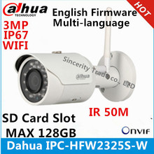 Dahua IPC-HFW2325S-W 3MP IR50M IP67 built-in WIFI SD Card slot Network outdoor WIFI Camera replace IPC-HFW1320S-W IP Camera(China)