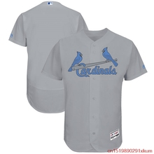 MLB Men's St. Louis Cardinals Baseball Gray Father's Day Flex Base Team Jersey(China)