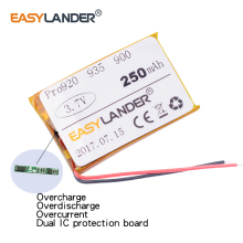 Easylander Replacement 3.7V 250mAh Rechargeable li Polymer  Battery For JA-BRA Pro Pro920 935 900 Bluetooth headset AHB5-2229PS
