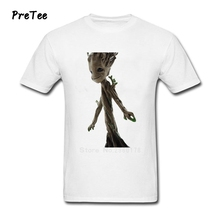 Boy T Shirt Guardians Cotton Short Sleeve Crew Neck Tshirt Of Clothes Guy Groot 2017 Galaxy Modern T-shirt For Man