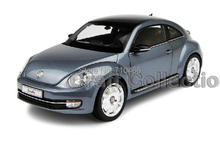 Gray Kyosho 1:18 Volkswagen VW Beetle Coupe Diecast Model Car Static Gifts Classic Vehicle
