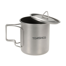 TOMSHOO Titanium Mug Water Cup 300/400/420ml Titanium Camping Mug Tableware Heat-Resistant Water Cup with Bag Outdoor Cookware(China)