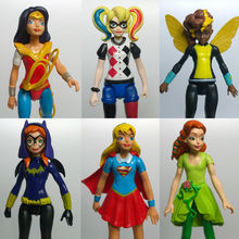 Super Hero Girls Wonder Woman Poison Ivy Harley Quinn Bumble Bee 6pcs/set Action Figure