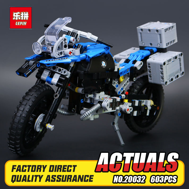 New 2017 Lepin 20032 Technic Series The BAMW Off-road Motorcycles R1200 GS Building Blocks Bricks Educational Toys for Kid 42063<br>