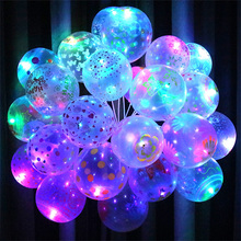 10pcs LED Balloon Light Ball Latex Multicolor Helium Balloons Christmas Hollween Decor Wedding Party Ballon Led Ball Wholesale
