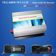 600 watts tie grid solar inverter dc 24v 36v 48v to ac 120v/230v solar inverter with mppt