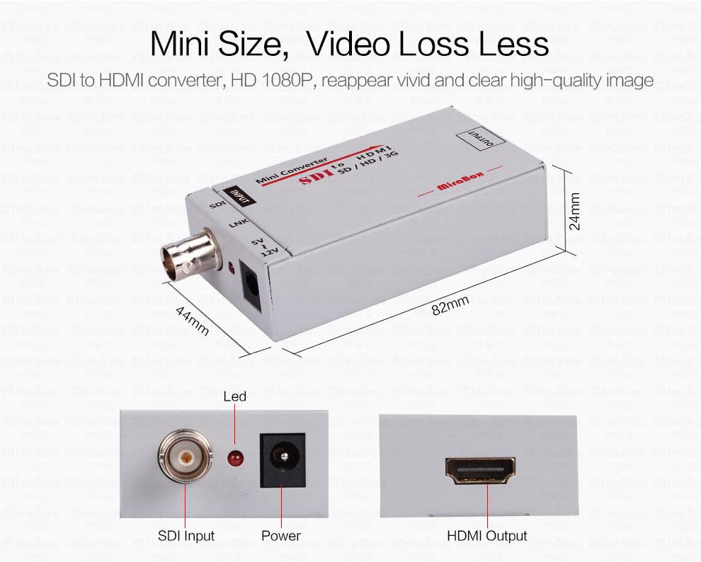 1080P Mini 3G SDI To HDMI Converter With Audio For HD Camera SDI To HDMI Video Converter Mini Box Support SDI3GHD SDI Signal (2)