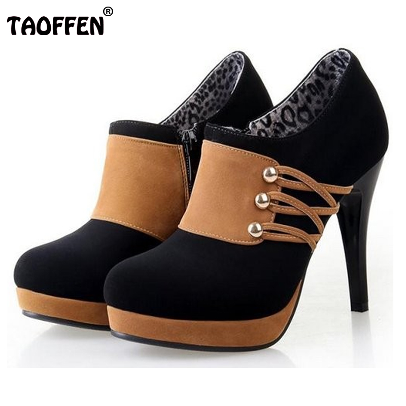 women high heel half short ankle boots fashion autumn winter boot botas sexy warm ladies heels footwear shoes P6847 size 34-42<br><br>Aliexpress