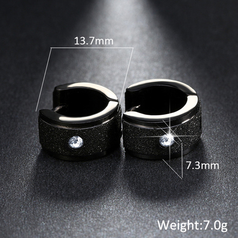 New Classic Brand Jewelry Silver/&Gold Color 316L Stainless Steel Zircon Crystal Stud Earrings For Women 60809