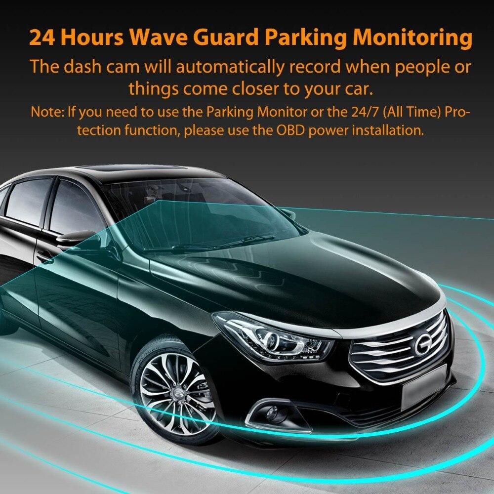 Vantrue T2 Dash Camera NT96655 Video Recorder 160 Degree View Wave Guard Packing Monitor Night Vision G-Sensor Car DVR Camera  (6)