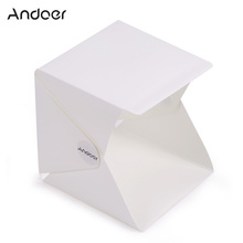 Andoer Foldable Portable Mini Photography Studio Lightbox Softbox Light Box for iPhone Samsang Smartphone Digital DSLR Camera