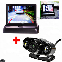 Auto Parking  Assistance System Rear Camera Car Camera Back Kind to 4.3 inch Car Flodable Monitor For Car-Styling And Security