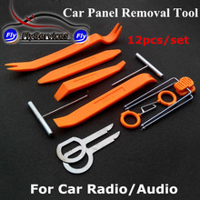 Car DVD Player Stereo Refit Tool Kit 12pcs Car Door Tools Interior Plastic Trim Panel Dashboard Installation Removal Pry Tool