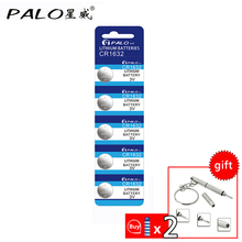5pcs! PALO CR1632 3V Lithium Battery Button Cell Coin Battery ECR1632 LM1632 CR 1632 for Watch Calculator Toy Electronic Device(China)