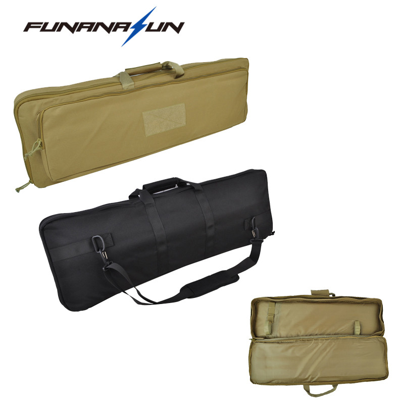 85cm/33.5 Airsoft Dual Rifle Bag with Shoulder Strap High Density 900D Nylon Hunting Military Gun Fishing Carry Bag Case<br>