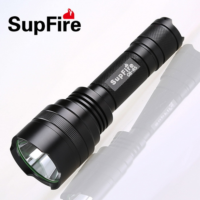 Supfire C8 Cree T6 1100 Lumen Rechargeable LED Flashlight Light 10w Waterproof Flashlight Led Torch by 18650 Battery<br><br>Aliexpress