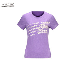 2017 Outdoor T shirt Quick Dry T-shirt Ladies Gym Running Top Sport Shirts Dry Fit Woman Fishing Clothing Workout Camping