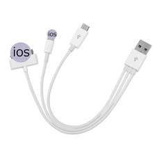 Micro USB 3-In-1 USB Charging Cable For Iphone Ipad Air Mini Lg G3 Htc One M8 Power Bank Charger Sync Data Cable