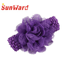 SunWard Lovely Baby Child Headbands Chiffon Lace Up Headbands Girls Infant Hair Band 2017 hair accessories hair clip