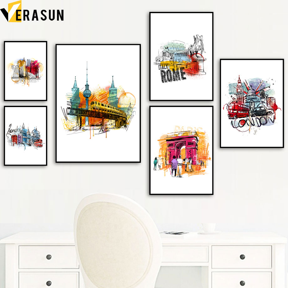 Abstract Art Scene Canvas Print Crafted In London Quality Assured