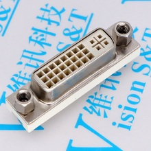 10 Connector 2.0 DVI Vertical 180 Degree Connector High Clear Interface DVI 24 5 Socket Directly