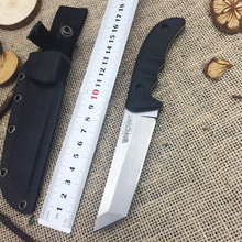 New Arrival Mechanical Straight Outdoor Camping Survival Knife  Tactical Knife 9CR19 Steel Fixed Rescue Tools