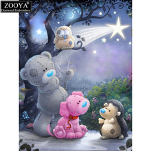 ZOOYA 5d diy diamond embroidery cartoon bear diamond painting Cross Stitch full square drill Rhinestone mosaic child gift MX