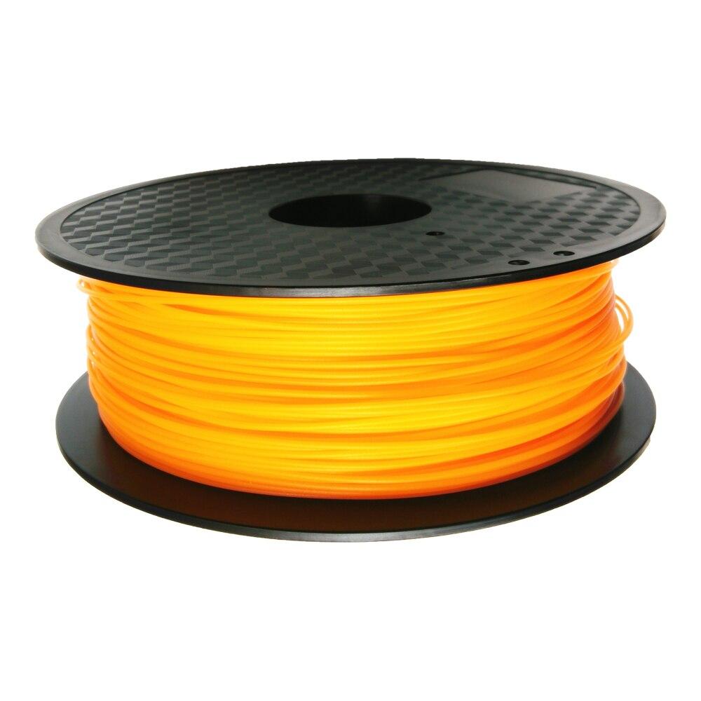 Orange ABS 1.75mm Pla Filament Compatible with impressora 3d such as Makerbot, RepRap,3D Pen etc 1kg/2.2lb  3d printer Supplies<br>