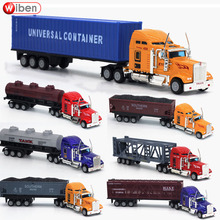 Wiben Hot Sale Transporter 1:64 Alloy truck Car Model Diecasts&Toy Vehicles Container Children Toy Birthday Gift