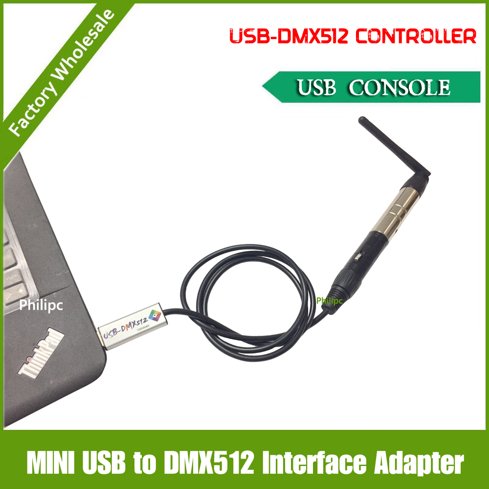 Free shipping 2017 NEW style DMX512 USB Interface Adapter to DMX512 PC Stage Lighting Controller <br>