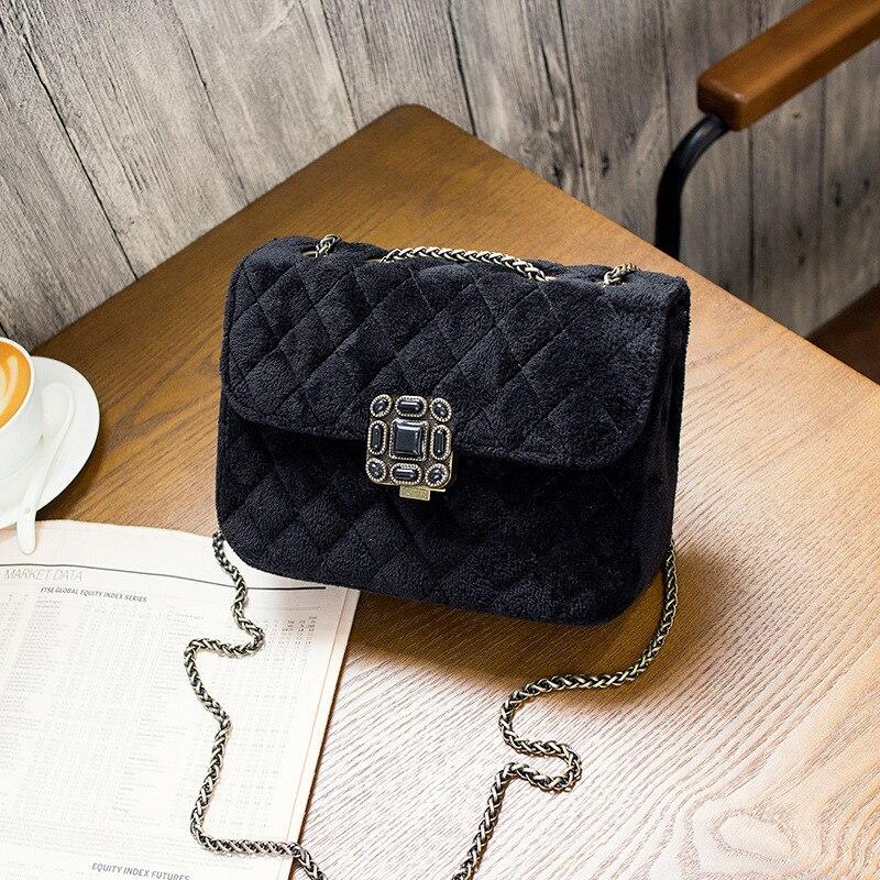 Fashion Lingge Plum lock small crossbody bag for women messenger bag chains designer mini shoulder bag lady Fluff square package<br><br>Aliexpress