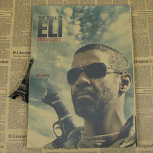 Denzel Washington Movie Poster Retro Kraft Paper Painting/The Book of Eli/Deja Vu/2 Guns/wall sticker/Kraft Poster(China)