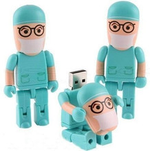 USB Flash Drive PenDrive 4GB/8GB/16GB/32GB/64GB Doctor model Plastic Pendrive memory card U disk Flash memory cute(usb 2.0drive)(China)
