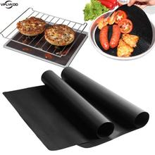 3pcs Barbecue Grill Mat Non-stick Reusable BBQ Grill Mats Sheet Grill Foil Bbq Liner 0.2mm Thick Ptfe Cookingd Microwave Oven