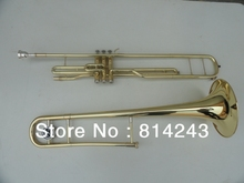 Three Key Tenor Trombone 85 Alloy Copper Speaker Gold Surface Tenor Trombone Flat Instrument with Trombone Mouthpiece and Bag(China)