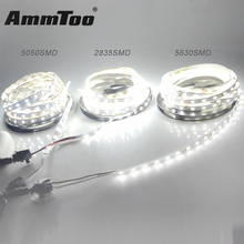 5M 5050 5630 2835 SMD Led Strip Warm White / White DC12V Not Waterproof 300LEDs Flexible Strip Light Led Bar Light Lamp(China)