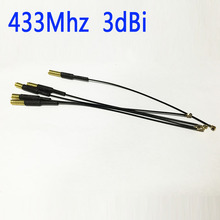 WIFI SUPPLY 433Mhz  antenna 2.5dbi gain  with Wireless transceiver module and data transmission antenna NEW Wholesale